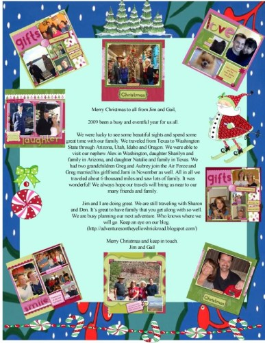 Annual Christmas letter - photobucket